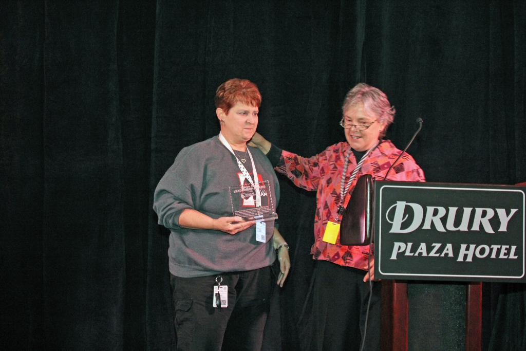 Janell Jessup (left) - 2015 Christen Skaer Leadership Award Recipient